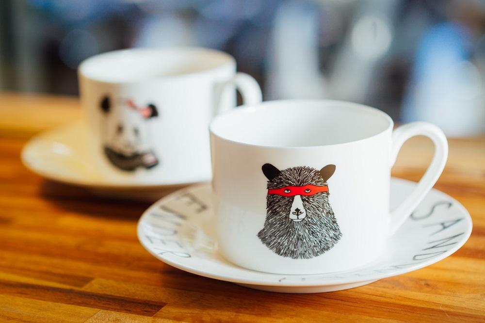 勺子雜貨咖啡館/台北/選物店/Jimbobart骨瓷杯/黑熊