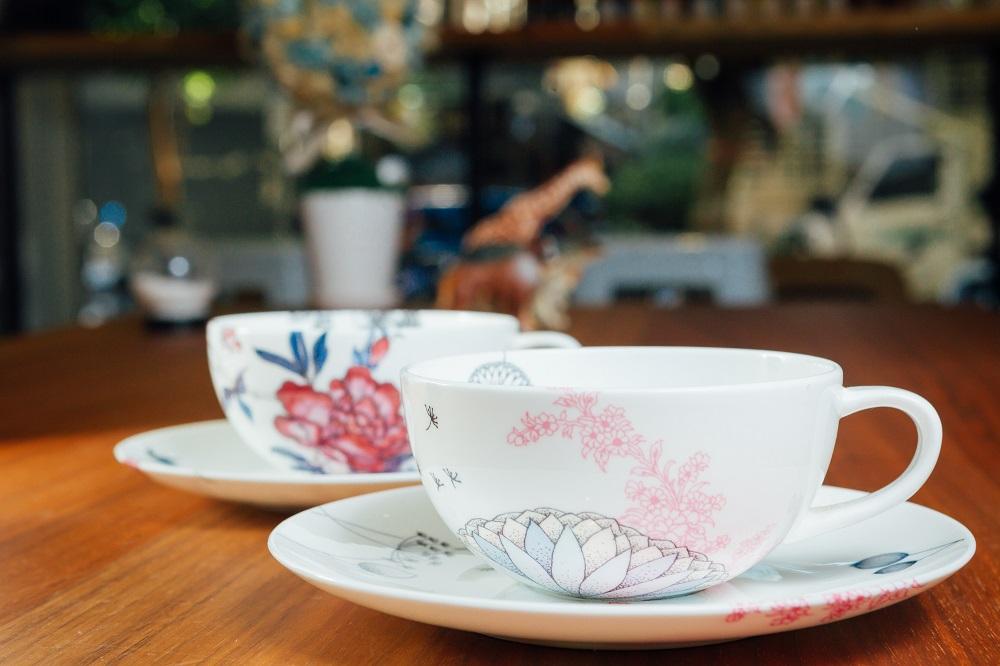 勺子雜貨咖啡館/台北/選物店/芬蘭Elinno彩繪杯組/百花陶瓷杯