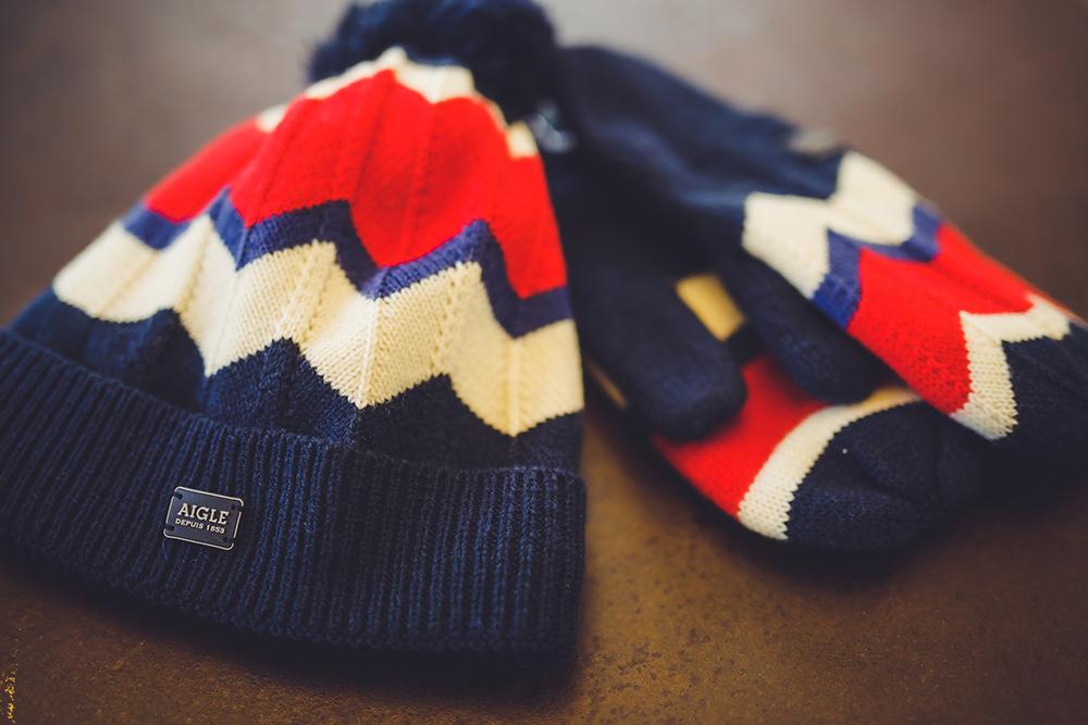 AIGLE 女休閒針織帽與針織手套/旅人誌/TRAVELER luxe