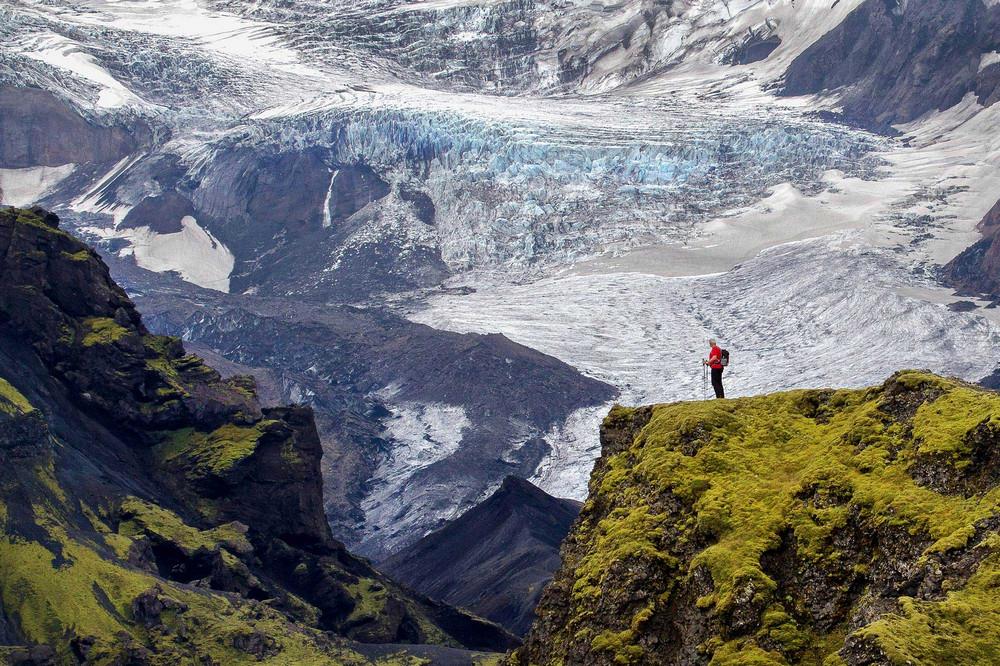 Fimmvörðuháls/冰島/中部高地/旅遊/高地古道/健行/冰河