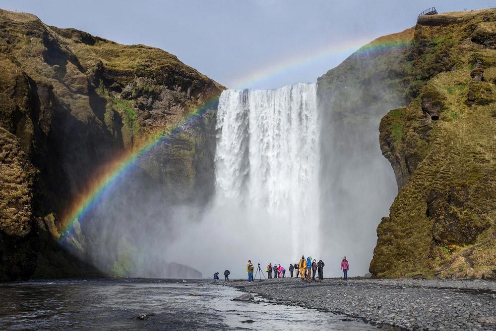 Fimmvörðuháls/冰島/中部高地/旅遊/Skógafoss/瀑布