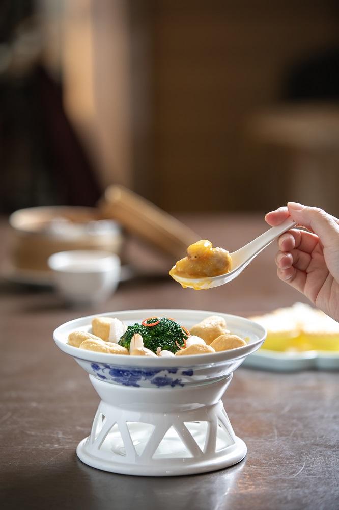 福容大飯店/精緻港點/台北/深坑/蟹粉蠶豆繭豆腐