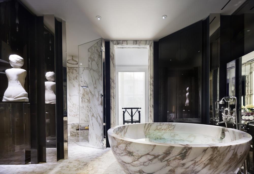 Rosewood London/倫敦/英國/英倫復古/大理石豪華浴室
