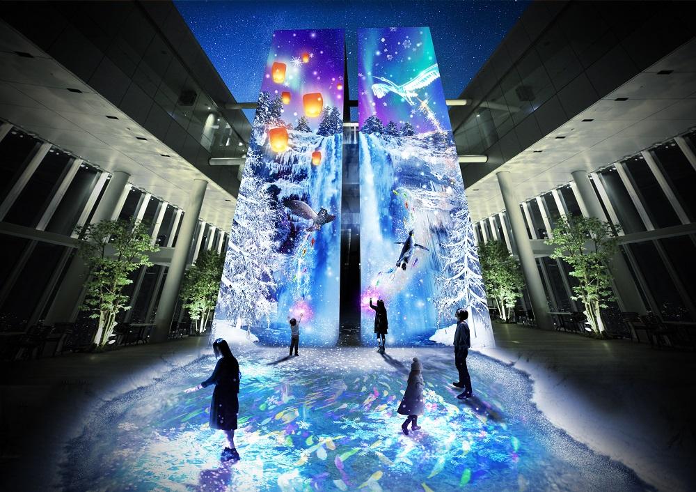 Crystal World/阿倍野HARUKAS展望台/光雕投影/天空庭園/極光/冰晶/鑽石星塵