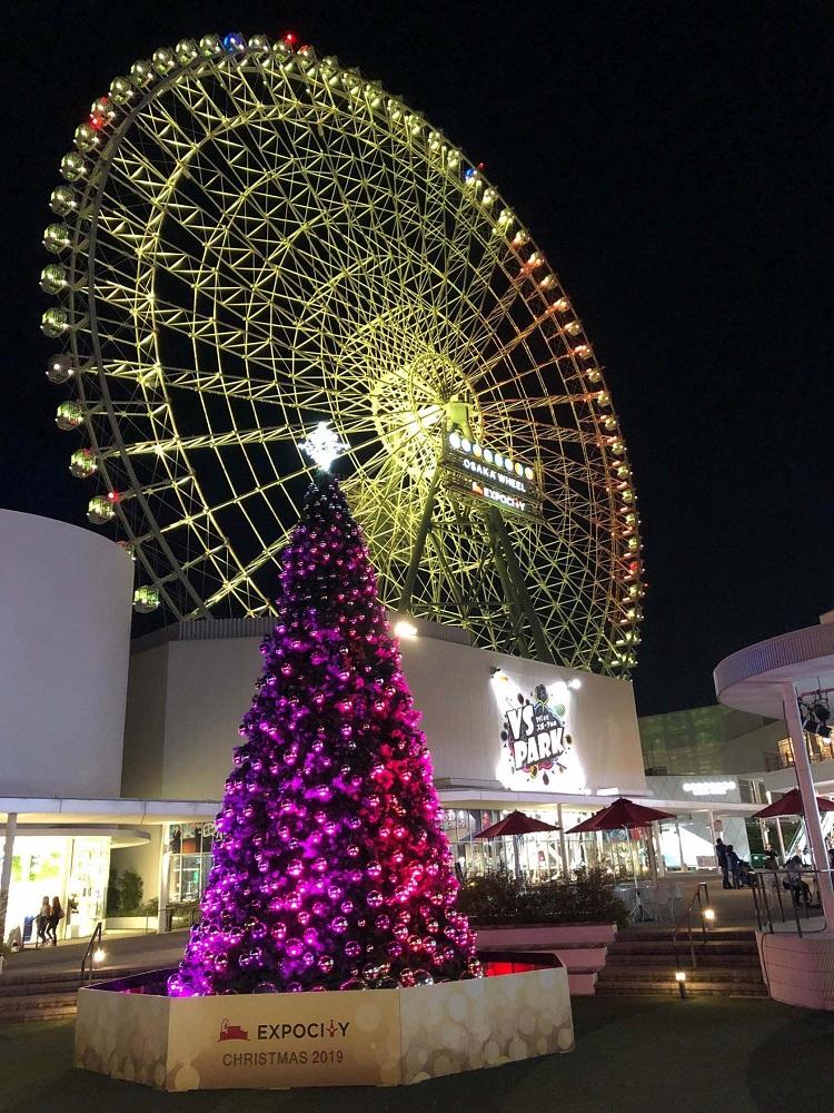 三井Outlet/大阪/大阪EXPOCITY/聖誕燈飾/聖誕燈海/購物天堂/日本第一高摩天輪