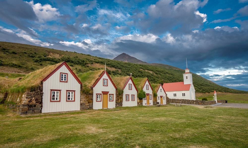 北極海岸公路/冰島自駕/歐洲最佳旅行地點/冰島傳統草皮農舍