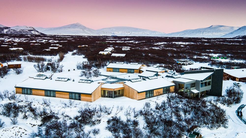 Hotel Húsafell/國家地理認證/冰島探險小屋/最獨特度假小屋/探險奢旅/雪景