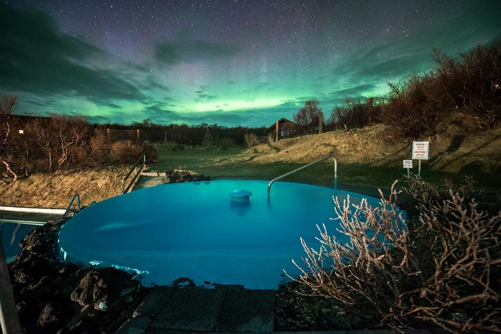 Hotel Húsafell/冰島/ 極光/地熱池