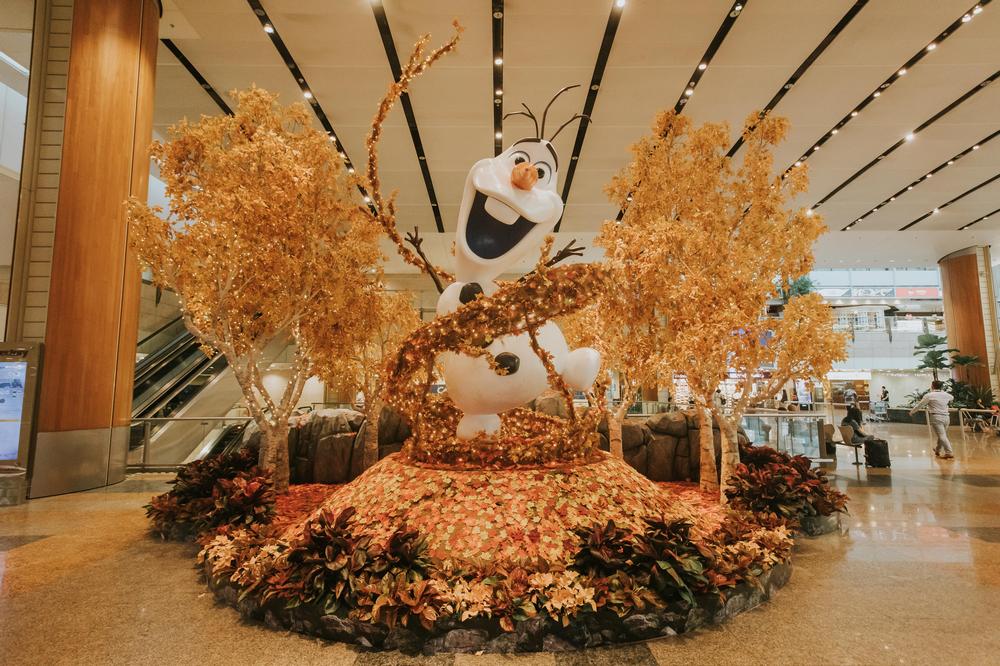 樟宜機場/新加坡/旅遊/冰雪奇緣/雪寶/迪士尼