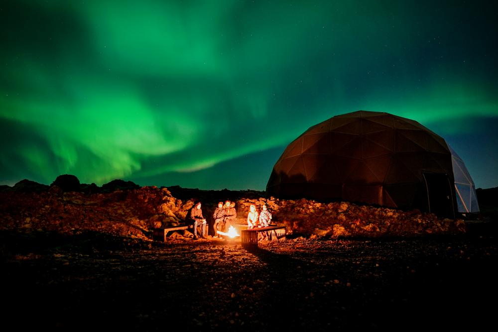 Aurora Basecamp/冰島/旅遊/極光基地營/極光/篝火