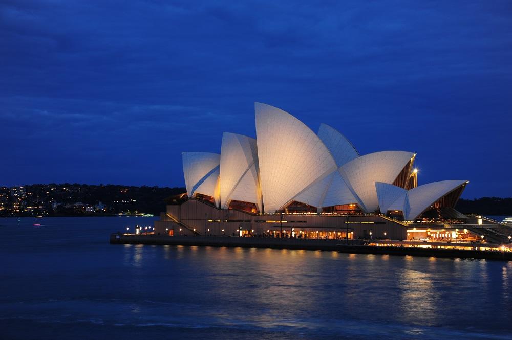 雪梨歌劇院/雪梨夜景/澳洲