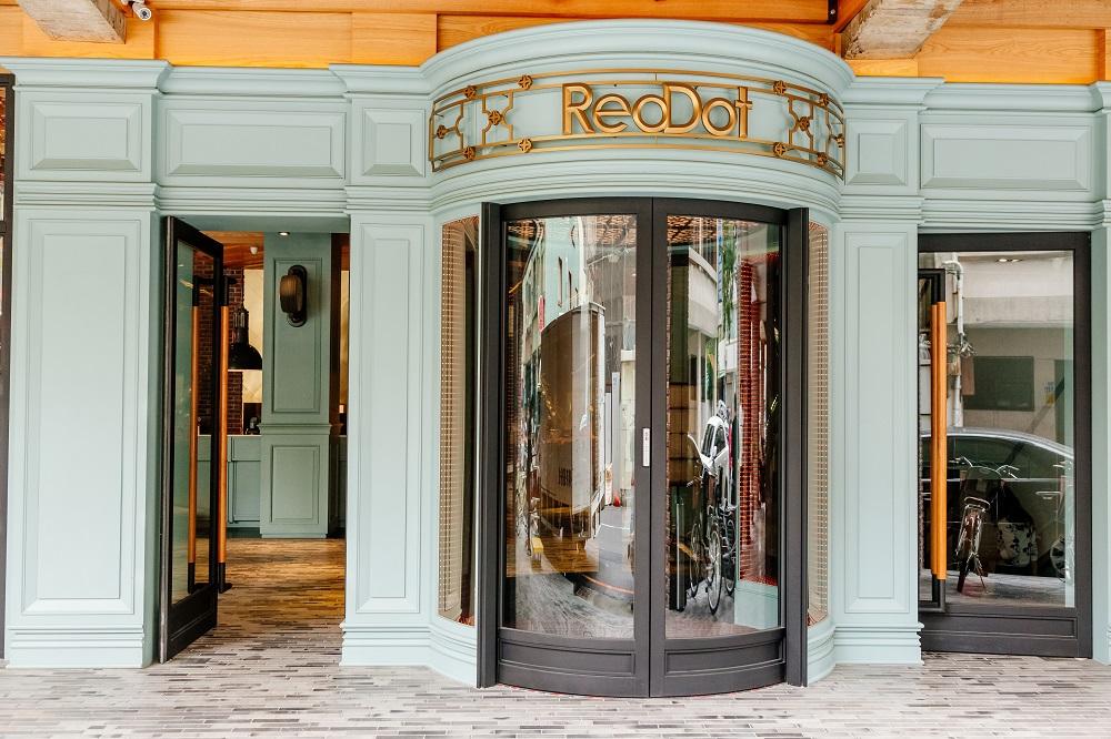 紅點文旅/台中/設計旅宿/全球最好玩飯店/圓形玻璃門