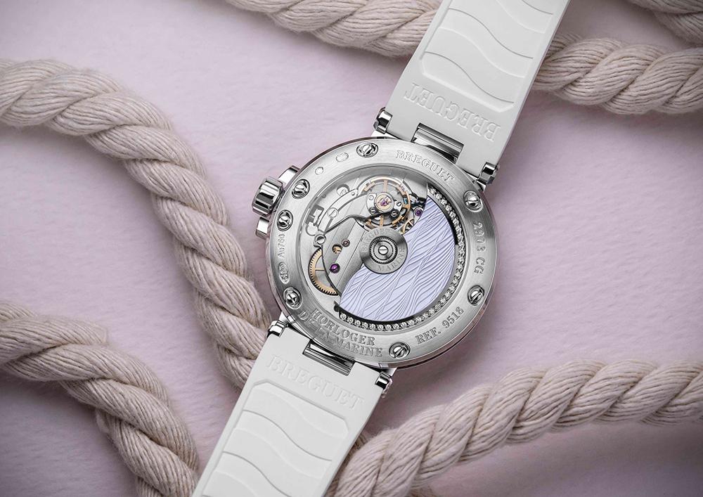 Breguet Marine Dame 9518航海系列仕女白K金鑽錶/創意生活/自動上鍊591A