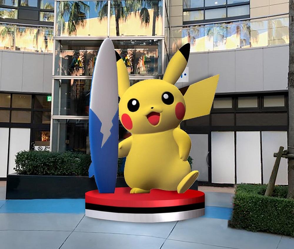 三井購物園區 LaLaport TOKYO-BAY/超大!衝浪 皮卡丘/極巨化寶可夢