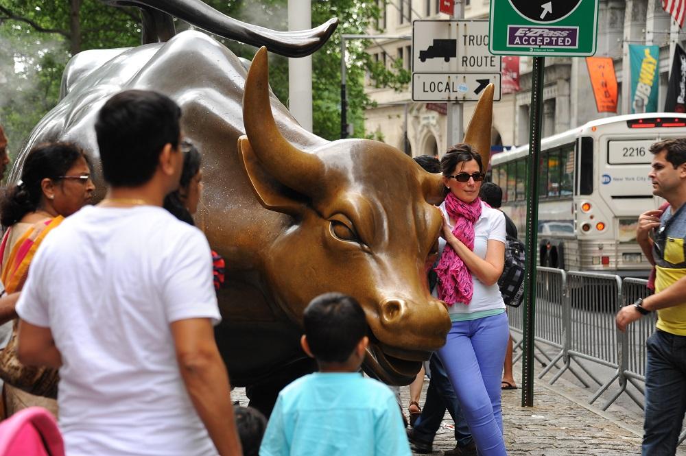 曼哈頓下城/滾球草地/華爾街銅牛/美國/金融區