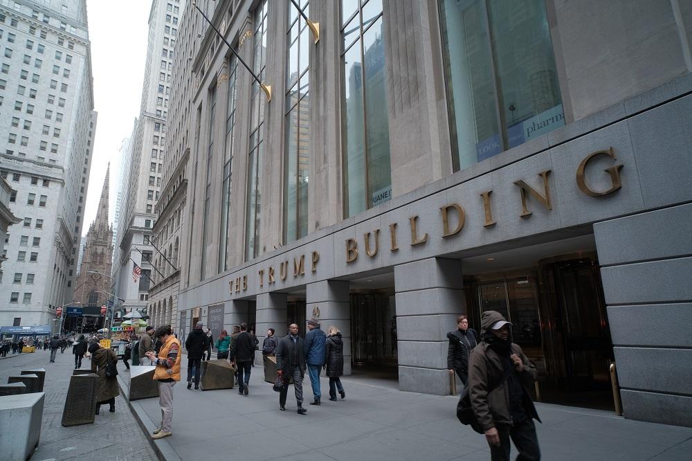 曼哈頓下城/華爾街/世界金融中心/美國/川普大樓