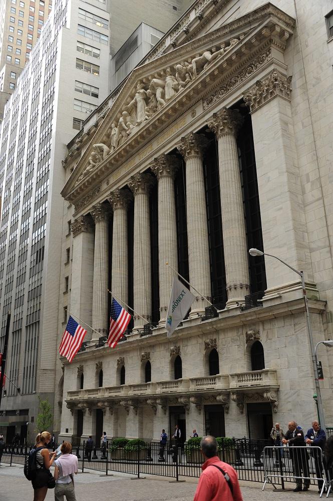 曼哈頓下城/紐約證券交易所/華爾街/美國