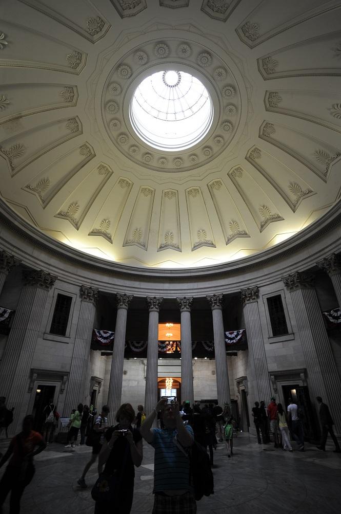 曼哈頓下城/聯邦國家紀念堂/希臘式建築/圓頂/美國