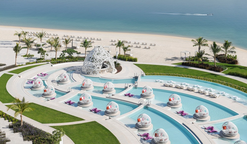 WET Deck/餐廳/W Dubai - The Palm/絕景旅館/藝術設計/海濱/杜拜/阿聯