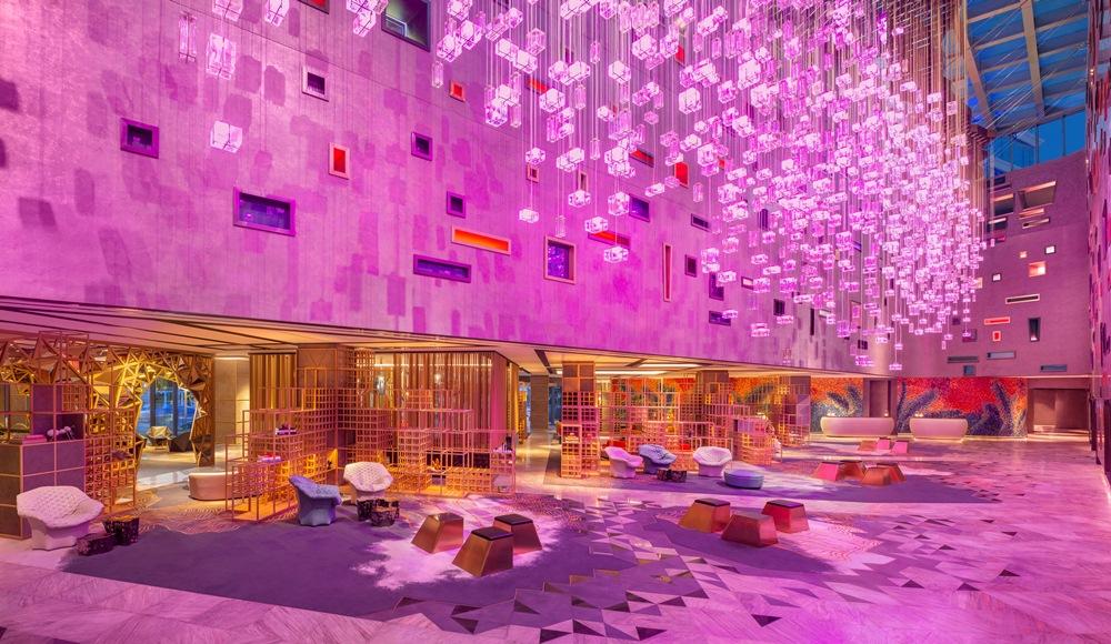 大廳/W Dubai - The Palm/絕景旅館/藝術設計/海濱/杜拜/阿聯