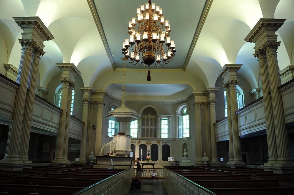 自由之路/波士頓/美國獨立/國王禮拜堂與墓地