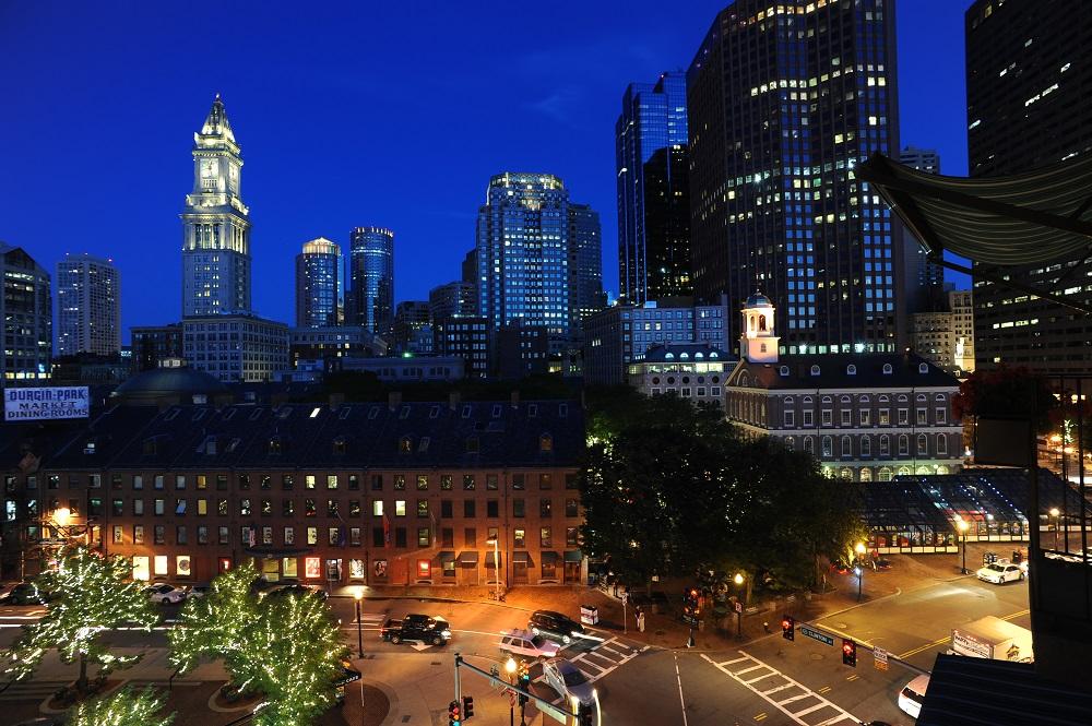 自由之路/波士頓/美國獨立/昆西市場/夜景