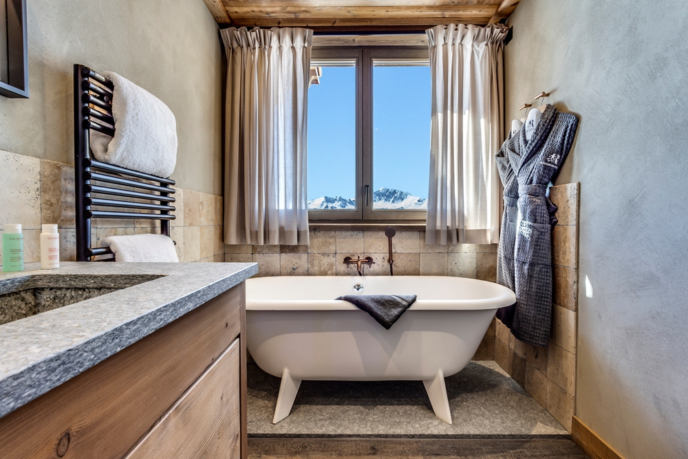 浴室/Le Refuge de Solaise/最高海拔旅宿/童話雪屋/阿爾卑斯連峰/法國/歐洲