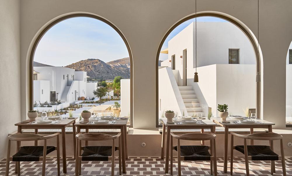 餐廳/Parīlio/絕景飯店/方塊造型/愛琴海/希臘