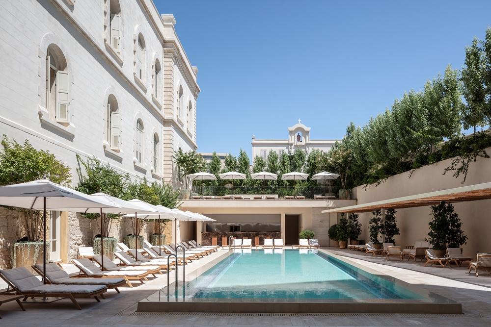 泳池/The Jaffa/設計旅館/拱形設計城堡/中世紀堡壘/地中海/以色列