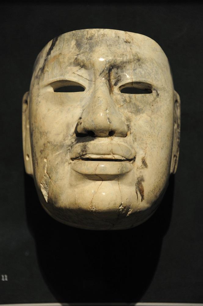 美洲藝術區/歐麥克面具 Olmec Mask/波士頓美術館/美國