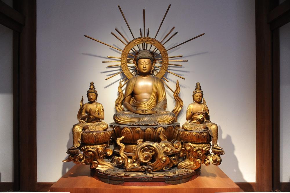 波士頓美術館/佛寺廳/佛像/神像/日本佛寺正殿