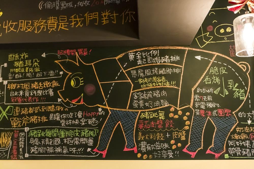 豬跳舞Dancing Pig/義式餐廳/台北/大安區美食/黑板