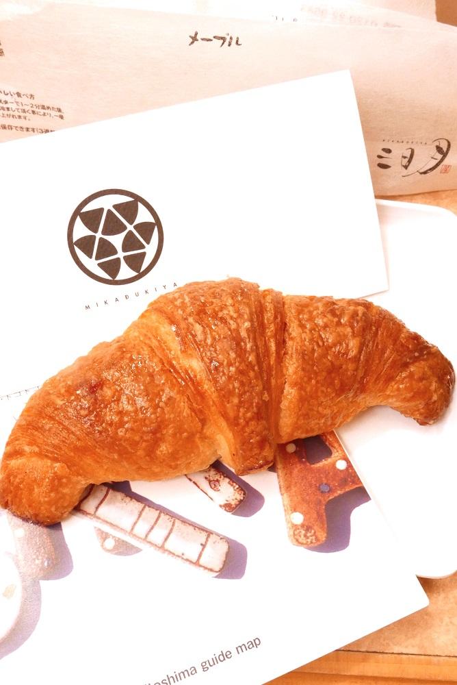 日本自由行/九州必吃/福岡/博多DEITOS/三日月屋CAFE/牛角麵包