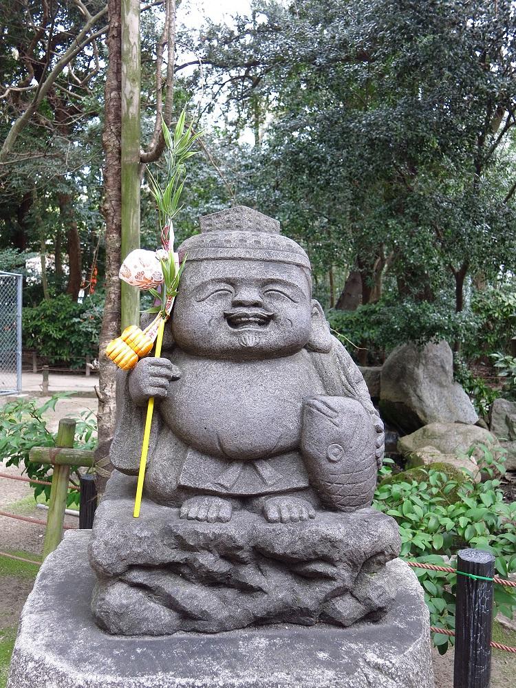 日本/福岡/博多/住吉神社/日本三大住吉/惠比須神像