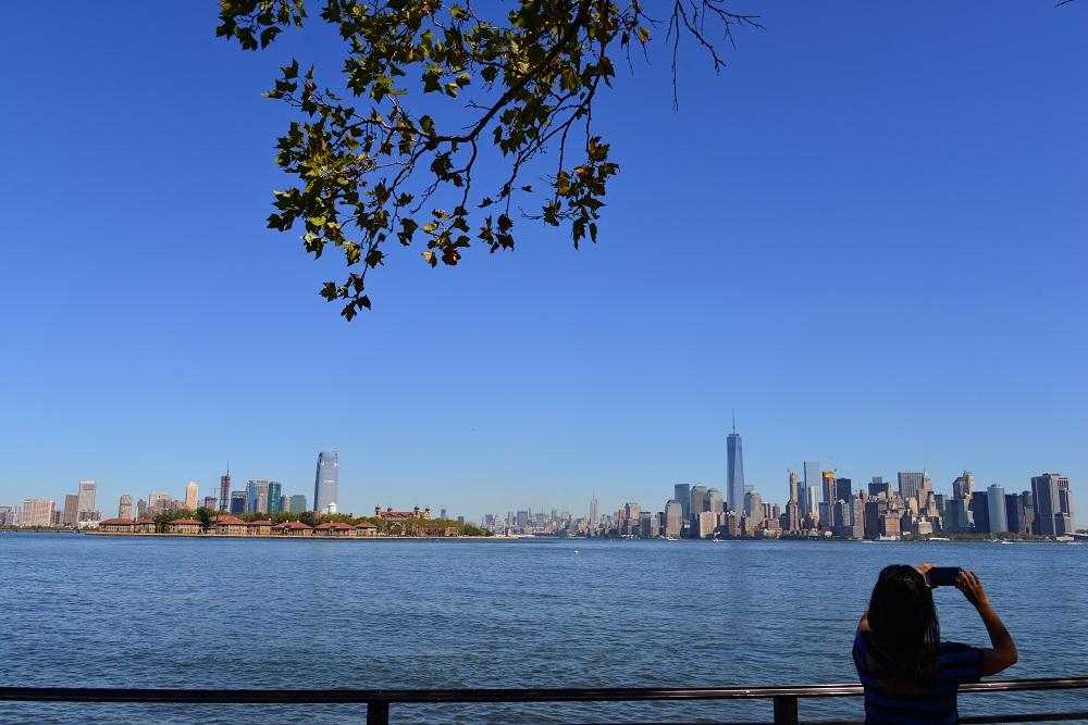 曼哈頓/紐約/美國/自由島/海景