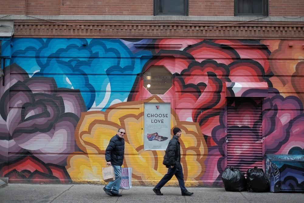 曼哈頓/紐約/美國/諾利塔/街頭塗鴉
