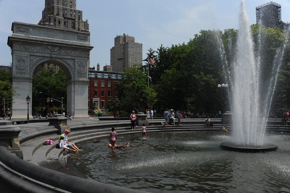 曼哈頓/紐約/美國/格林威治村/華盛頓廣場