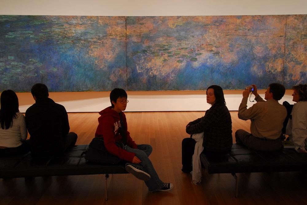 曼哈頓/紐約/美國/現代美術館/莫內睡蓮