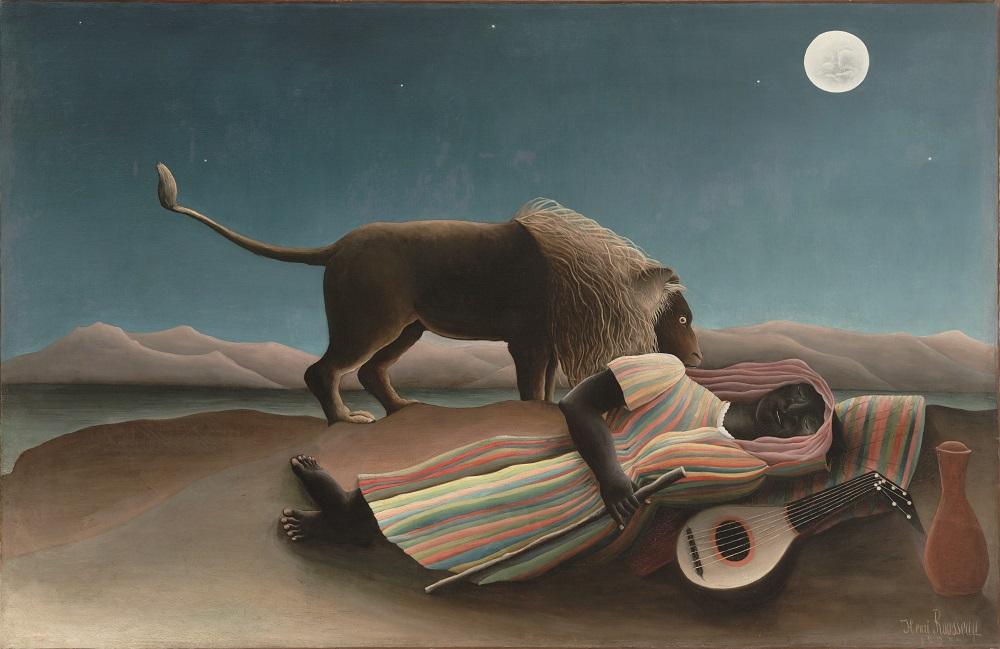 曼哈頓/紐約/美國/現代美術館/盧梭/睡著的吉普賽人