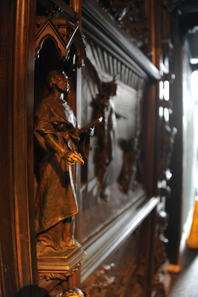 紐約/三一教堂/絕美教堂/哥德式教堂/銅雕大門/韓特