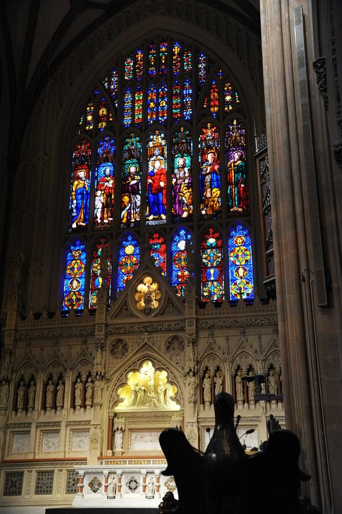 紐約/三一教堂/絕美教堂/哥德式教堂/彩繪玻璃