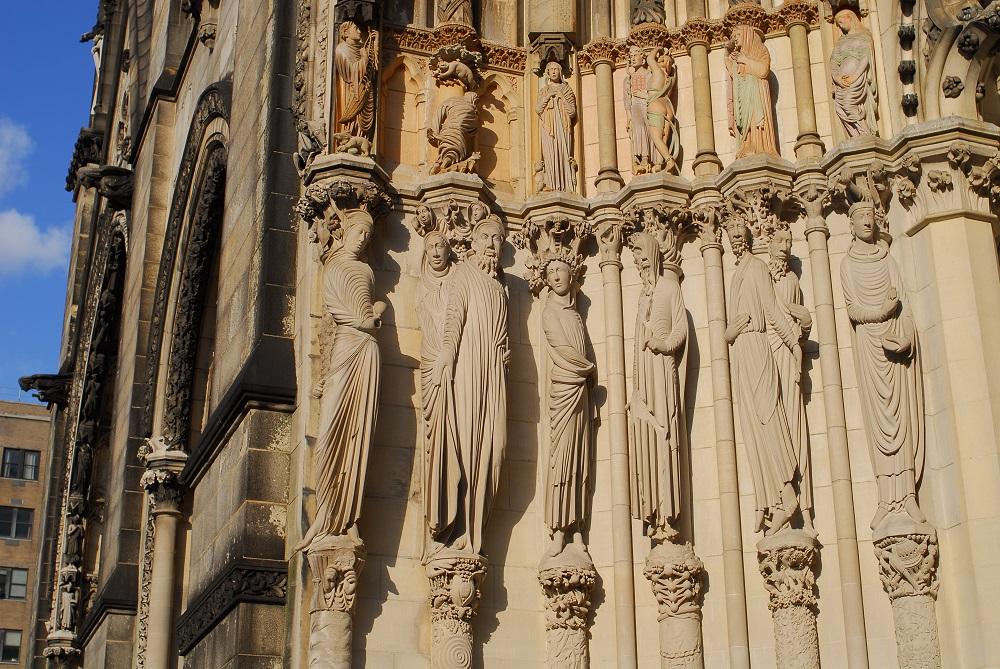 紐約/絕美教堂/聖約翰神明座堂/未完成的聖約翰/聖人雕像