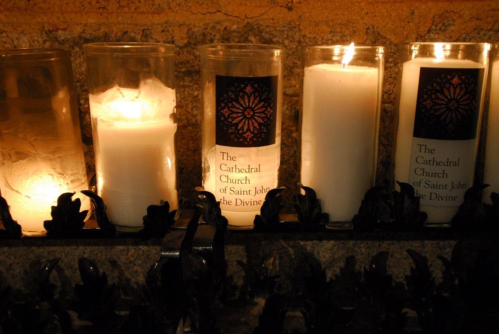 紐約/絕美教堂/聖約翰神明座堂/未完成的聖約翰/蠟燭