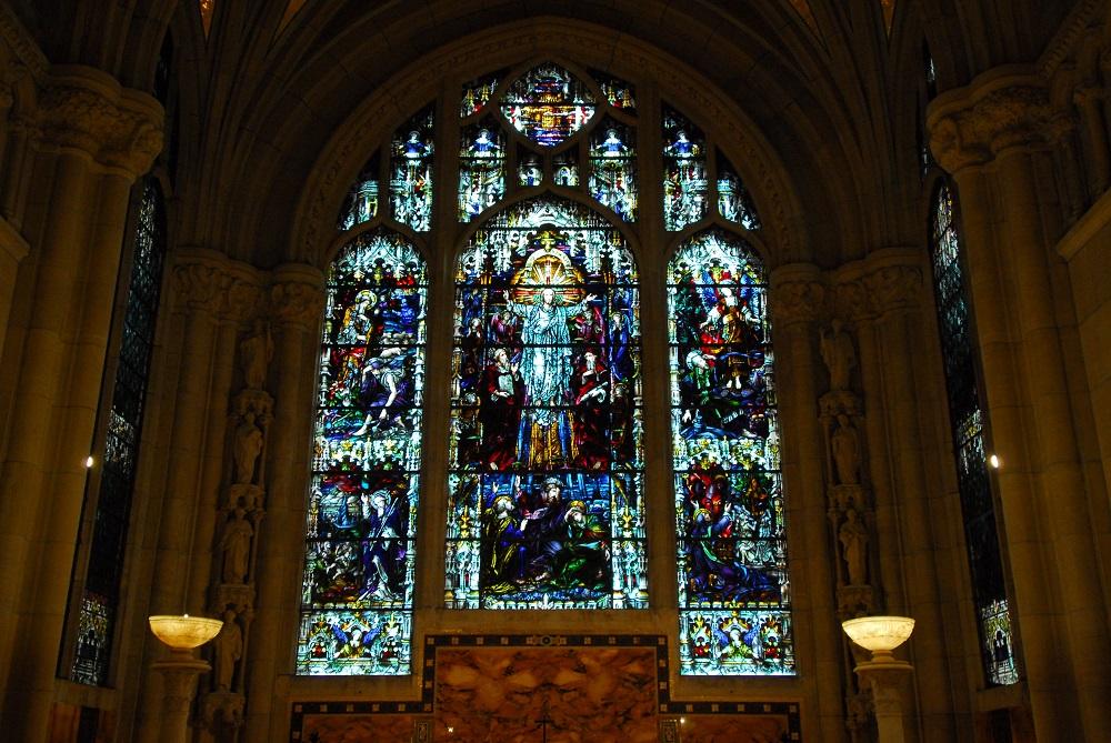 紐約/絕美教堂/聖約翰神明座堂/未完成的聖約翰/彩繪玻璃