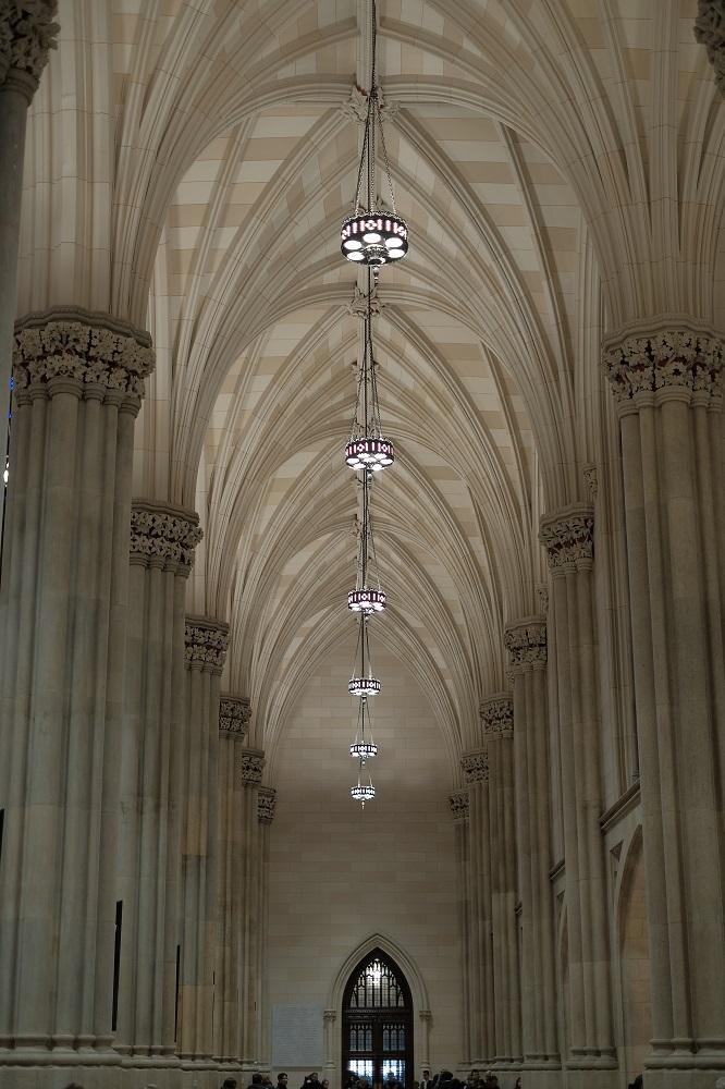 紐約/絕美教堂/聖派翠克大教堂/哥德式拱頂/對稱美