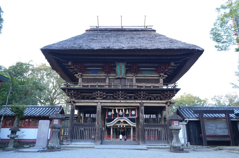 九州/熊本/人吉/青井阿蘇神社/國寶/傳統茅葺樓門