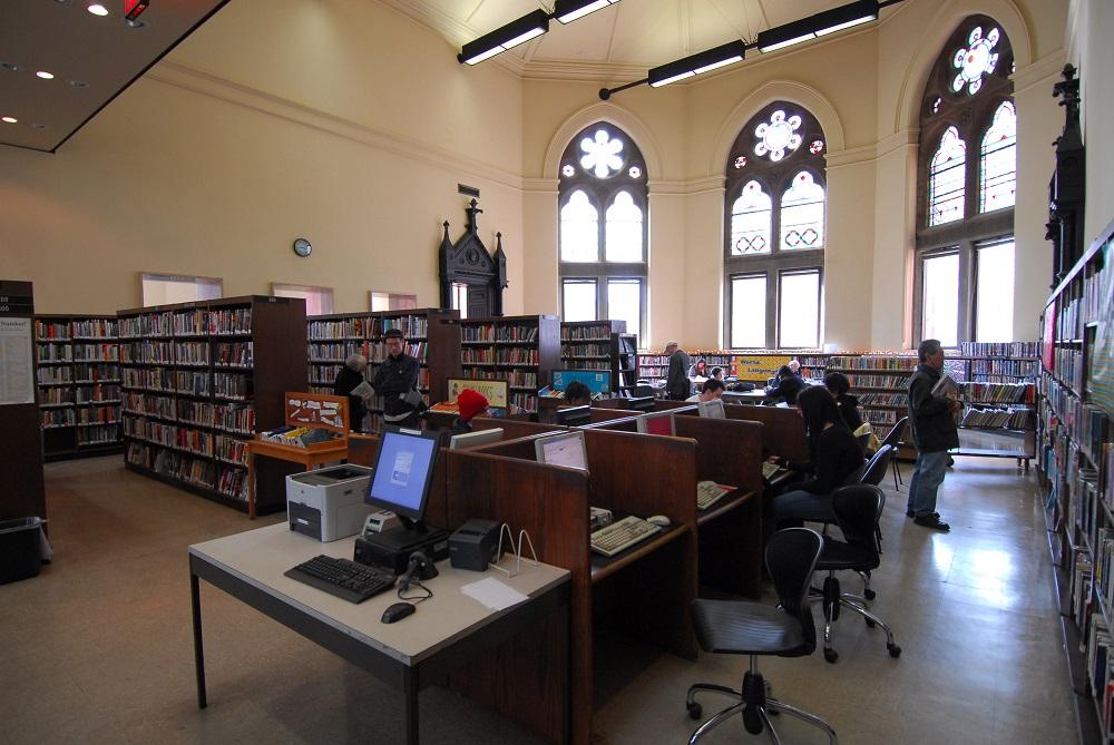 曼哈頓/紐約/傑佛遜市場圖書館/圖書室