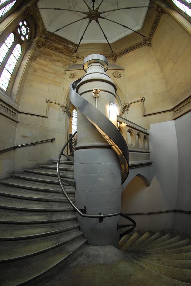 曼哈頓/紐約/傑佛遜市場圖書館/樓梯
