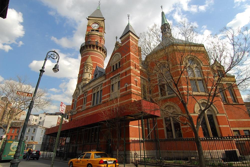 曼哈頓/紐約/傑佛遜市場圖書館/古典建築/尖塔鐘樓