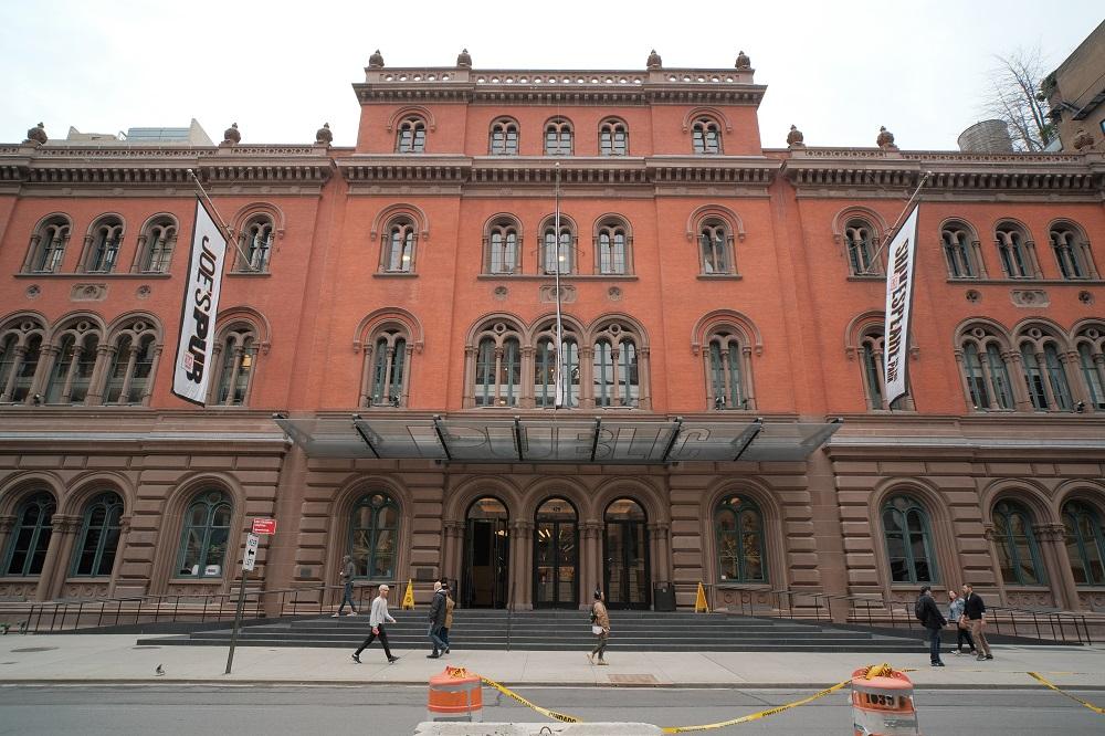 曼哈頓/紐約/阿斯特廣場/公共劇院/圖書館